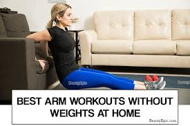 9 simple arm workouts without weights