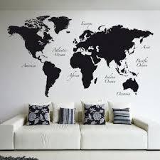 World Map Wall Decal Wayfair