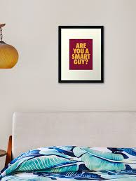 Are You A Smart Guy Lebron James Quote Framed Art Print By Theveeboo Redbubble