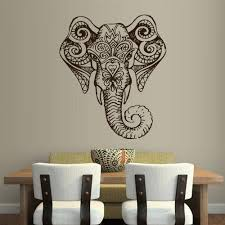 Wall Vinyl Sticker Decals Decor Art Bedroom Design Mural Ganesh Om Elephant Tatoo Head Mandala Tribal Z1960 Elephant Things