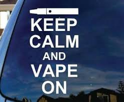 Keep Calm Vape On Vinyl Decal Sticker Car Truck Laptop Funny Mode Pen Variable Ebay