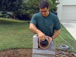 How To Lay Blocks For A Stone Column Mailbox How Tos Diy