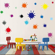 Amazon Com Kids Wall Decals Primary Color Paint Splash Room Decor Wall Art Colorful Nursery Wall Decor Stickers 38 Drops Baby