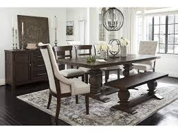 Millennium Hillcott D798 55t 55b 2x02a 4x01 60 8 Pc Table 2 Uph Arm Chairs 4 Side Chairs And Server Set Sam Levitz Furniture Dining 7 Or More Piece Sets