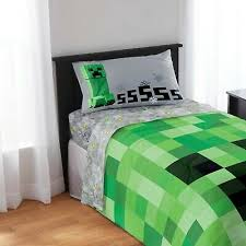 minecraft bedding full size sheet set