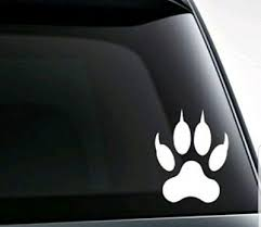 Wolf Paw Vinyl Decal Sticker For Car Truck Bumper Wall Window Laptop Decor Ebay