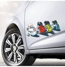 European Cup Messi Ronaldo Cartoon Car Stickers Transparent Vinyl Window Body Decal