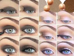 how to do smokey eyes for blue eyes and