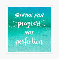 Progress Not Perfection Stickers Redbubble