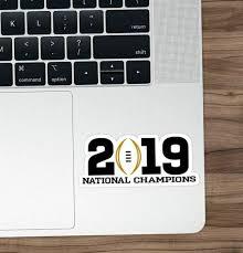 Clemson Tigers 2019 National Champions Vinyl Sticker Decal Laptop Yeti Cfp Sportscards Com