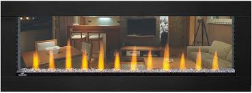 clearion see through electric fireplace