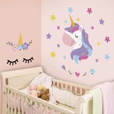 Zoomie Kids Sleepy Unicorns Wall Decal Wayfair