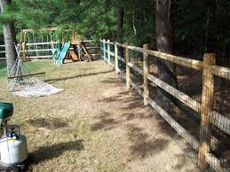 Cedar Post And Rail With Welded Wire Traditional Kids Boston By Avo Fence Supply Houzz Au