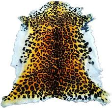 handmade faux cheetah skin throw rug