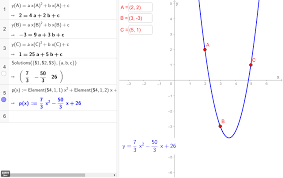 parabola through 3 points algebraic