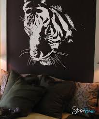 Vinyl Wall Decal Sticker Large Tiger Face 411 Stickerbrand