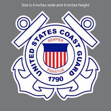 Cg 5005 Us Coast Guard Emblem Uscg Bumper Sticker Window Decal Ebay