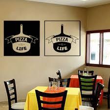 Pizzeria Wall Sticker Vinyl Pizza Is Life Restaurant Dining Room Decals Kitchen Interior Design Murals Home Decor Poster K39 Wall Stickers Aliexpress