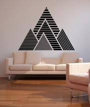 Geometric Mountains Vinyl Wall Decal Sticker Os Mb1247 Stickerbrand