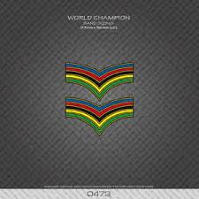 0473 World Champion Stripes Bands Bicycle Decals Stickers Ebay