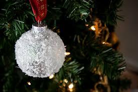 snowball ornament easy diy