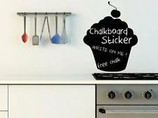 Coffee Cups Chalkboard Fridge Kitchen Stickers Decal Free Chalk And Sponge For Sale Online