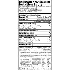 bag doritos nutrition facts ahoy ics