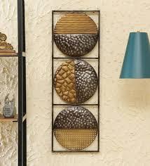 multicolour metal decorative wall art