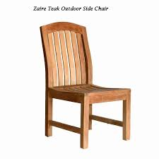 teak garden side chair zaire teak
