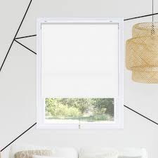 Chicology Snap N Glide Corldess Byssus White Room Darkening Best For Kids Polyester Roller Shade 27 In W X 72 In L Rsbw2772 The Home Depot