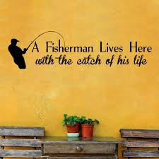 Decalthewalls A Fisherman Lives Here Wall Decal Wayfair