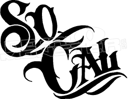 Socal Southern California Decal Sticker Decalmonster Com