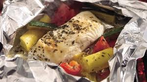 grilled lemon pepper halibut and squash