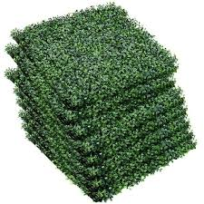 Shop Costway 12 Artificial Hedge Plant Privacy Fence Screen Topiary On Sale Overstock 18266917