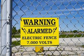 Fence Electric Fence High Voltage Alarmed Voltage Warning Keep Out Stay Out Shock Wire Boundary Pikist