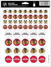 Amazon Com Wincraft Nhl Chicago Blackhawks Vinyl Sticker Sheet 8 5 X 11 Sports Fan Wall Decor Stickers Sports Outdoors