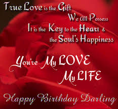 a birthday card for a crush full of love are my love my life