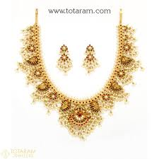 22k gold temple jewellery necklace sets