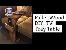 pallet wood diy tv tray table you