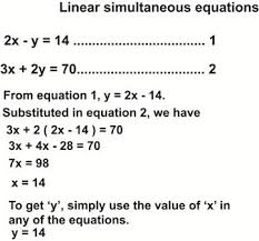 solving simultaneous equations by