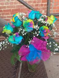 rainbow roses in gardena ca kiku