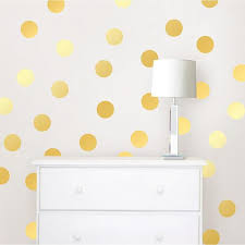 Wall Pops Gold Confetti Dots Wall Decal Set Twpd1642 The Home Depot