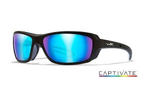 captivate blue mirror matte black frame