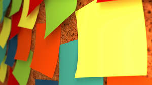 yellow green and green sticky notes