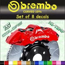 8 X Brembo Decals Stickers Brake Caliper Curved 10 Bgfvxfg Vczxfgds