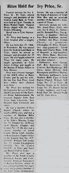 Ivy Shelton Price, Sr (1904-1987) - Find A Grave Memorial