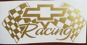 Gold Chevy Chevrolet Bowtie Die Cut Vinyl Decal Sticker Racing Car Window Racing Ebay