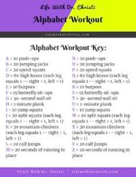 alphabet workout spell your name to