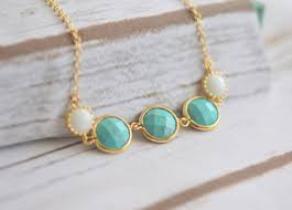 turquoise and white stone necklace in