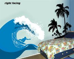 Surf S Up Ocean Wave Wall Decal Sticker